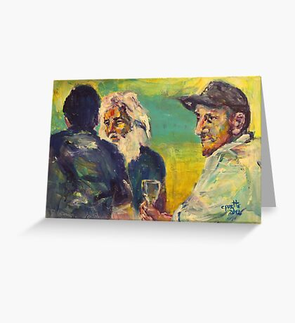 A drink with Vincent Greeting Card