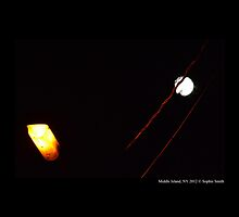 Street Light Versus Moonlight  by © Sophie W. Smith