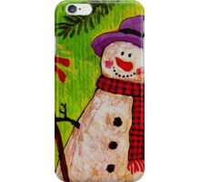 Snowman and Broom iPhone Case/Skin