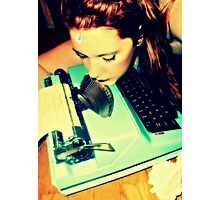 typewriter love Photographic Print