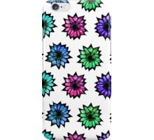 Colorful Hand Painted Flowers iPhone Case/Skin