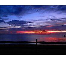 Sunset at Campground Beach Photographic Print