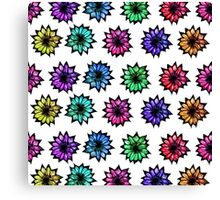 Colorful Hand Painted Flowers Canvas Print