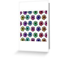Colorful Hand Painted Flowers Greeting Card
