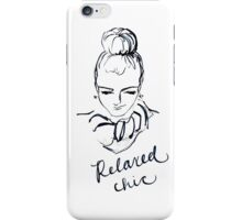 Relaxed Chic iPhone Case/Skin
