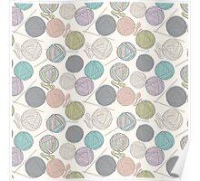 Balls of yarn pattern Poster