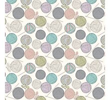 Balls of yarn pattern Photographic Print