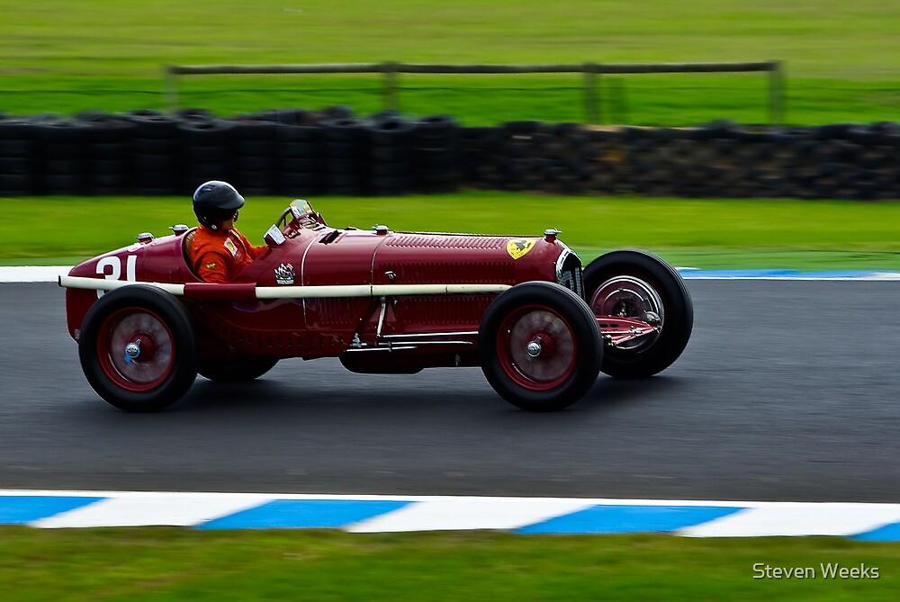 Peter Giddings - 1932 Alfa Romeo Tipo B by Steven Weeks