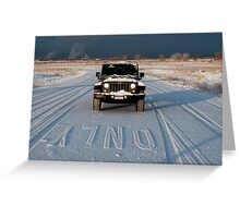 Only Road Greeting Card