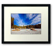 beauty of winter sky Framed Print
