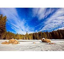 beauty of winter sky Photographic Print