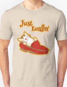 Just Loafing Cat Sleeping in Shoe T-Shirt