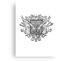 Steampunk Coat of Arms Canvas Print