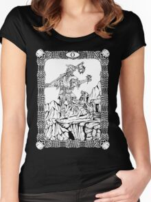 Zombie Tarot:  Fool Women's Fitted Scoop T-Shirt