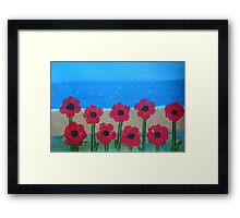 Poppies by the Sea Framed Print