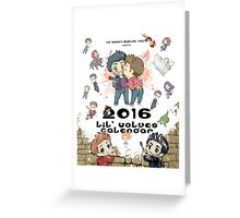 Calendar 2016 - Cover Greeting Card