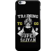 TRAINING TO GO SUPER SAIYAN WHITE iPhone Case/Skin