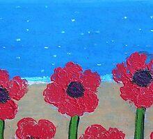 Poppies by the Sea by Bronwyn Blair