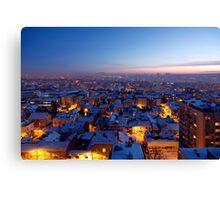Baby It's Cold Outside - Belgrade Covered with Snow Canvas Print