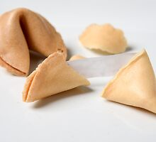 Fortune Cookie on white background  by PhotoStock-Isra