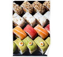 Assortment of Sushi Maki, futo maki, and Insideout Poster
