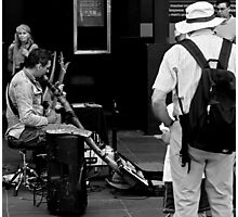 Busking in Burke Photographic Print
