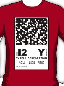 J.F.Sebastian Tyrell Corporation Entry Card T-Shirt