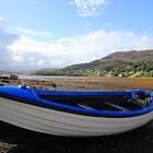 blue boat, isle of skye by geoffford