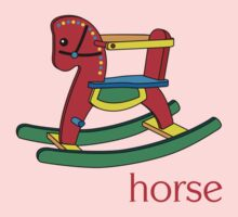 Children's Rocking Horse One Piece - Long Sleeve