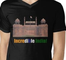 Incredible India - T-Shirt Mens V-Neck T-Shirt