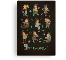 9 sleepwalkers Canvas Print