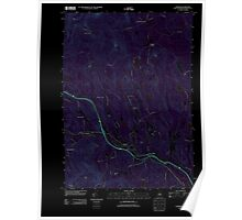 USGS TOPO Map New Hampshire NH Warner 20120608 TM Inverted Poster