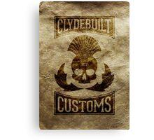 Clydebuilt Customs (black) Canvas Print