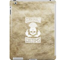 Clydebuilt Customs (white) iPad Case/Skin