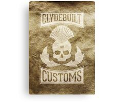 Clydebuilt Customs (white) Canvas Print