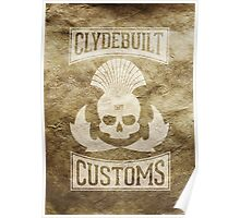 Clydebuilt Customs (white) Poster