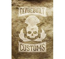 Clydebuilt Customs (white) Photographic Print
