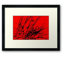 Strike Out Red and Black Abstract Framed Print