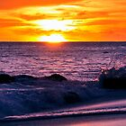 Barbados Sunset Wave by WillOakley