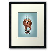 I Love You Like... Framed Print