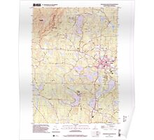 USGS TOPO Map New Hampshire NH Monadnock Mountain 329668 1998 24000 Poster