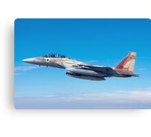 Israeli Air force Fighter jet F-15I in flight Canvas Print