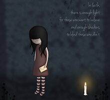 Whimsical Melancholy Emo Girl by ArtformDesigns