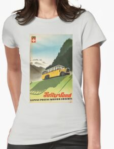 Vintage poster - Switzerland Womens Fitted T-Shirt