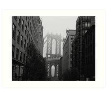 Misty Manhattan Bridge Art Print