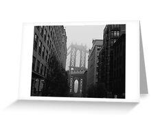 Misty Manhattan Bridge Greeting Card