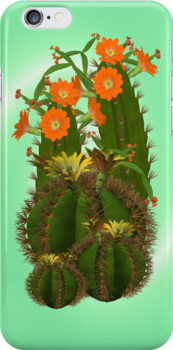 Cacti .. iphone case by LoneAngel