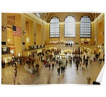 Grand Central Station rush hour Poster