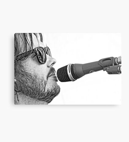 Chris Rockin' Metal Print