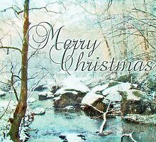 Merry Christmas Greeting Card - Snowy Unami Creek by MotherNature